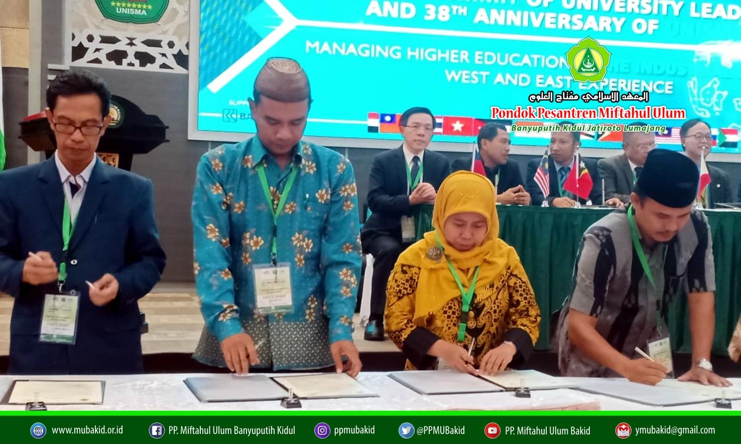 Hadiri Forum Rektor Se-Dunia di Unisma Malang, STISMU Lumajang MoU dengan 5 Kampus Luar Negeri
