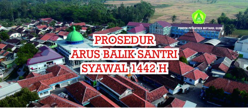 Informasi Prosedur Arus Balik Santri Pondok Pesantren Miftahul Ulum Syawal 1442 H